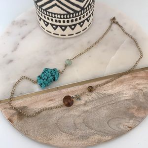 Jewelry - Handmade turquoise and tigers eye necklace!!